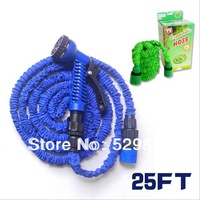 2014 Hot!Garden hose expandable flexible hose EU standard fit water connection 25FT (Malaysia-import natural latex)  GH-05E