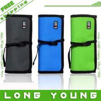 Bubm multifunctional data cable bag usb flash drive bag mobile hard drive bag earphones line bag sd card case