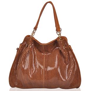 2014 New Fashion totes bag women handbag Snake pattern leather messenger bag  one shoulder cross-body leather bag
