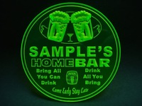 4x ccp-tm Personalized Name Custom Home Bar Beer 3D Coasters