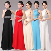 2015 new arrival Elegant evening dress multi-colors paillette party dress short sexy red halter dresses