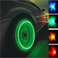 2014 Real Seconds Kill A Pair External Car Lights Refit Wheel Tyre Rim Wind Fire Wheels Shaped Lamp Led Lighting Acro