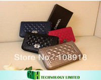 Sheepskin Lady C Brand Ling, Long Zipper Wallet Real Leather Wallet 2013 New Hand Bag Fashion