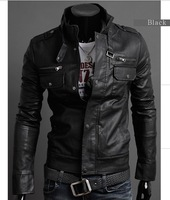 New Men's Stylish,Fashion PU Leather Jacket,Outcoat,Male Top Cloths,Suede,Slim Casual,Motorcycle,Wholesale,Free Drop Ship,XP002