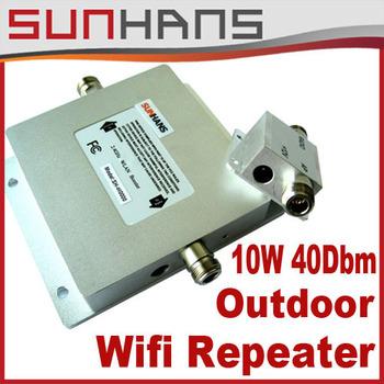 Sunhans Marketing Direto impulsionador 2.4G 10W ao ar livre (40dBm) WiFi repetidor de sinal Outdoor 10W de potência transporte da gota amplificador Booster