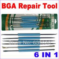 6 In 1 BGA Repair Tool BGA Rework Tools Repairing Tools Bga Solder Assist Tools for PCB Repair Rework Bset SA-10 Free Shipping