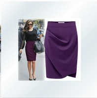 new fashion 2013 office skirt , women business suit , pencil purple skirts