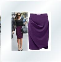 new fashion 2013 office skirt , women business suit , pencil purple skirts