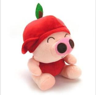 Grátis Fruit envio McDull porco boneca gravação boneca de pelúcia brinquedos de pelúcia presente de casamento decoração do carro do casamento WHT026(China (Mainland))