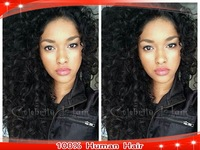 Ombre Virgin Brazilian Human Hair Wigs Two Tone Color 1b#/6# Lace Front Wigs Afro Kinky Curly For Black Women Baby Hair