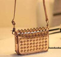 2014 Top Fashion Fashion New Handbags for Womens,  High Quality RIVET SHOULDER BAG, Pu Leather Hobo Girls women Shoulder Bag
