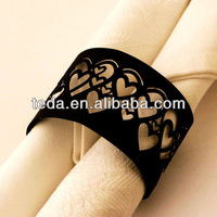wedding Party table decoration heart napkin ring
