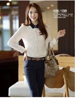 New Korea sweet style Chiffon Blouse women Blouse Office Lady  Blouse formal blouses women  classic women clothing