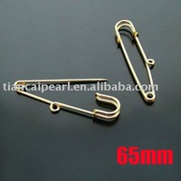65mm Gold Plated Brooch Pins Safety Pins Brooch Clips Jewelry Findings Jewelry Accessories Jewelry Fittings Nickel Free!!