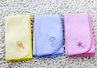 Free shipping Baby bibs feeding small square handkerchief towel cotton 5pcs/lot S117