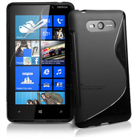 S Line Gel Skin Clear TPU Rubber Soft Case Cover For Nokia Lumia 820 Free Shipping