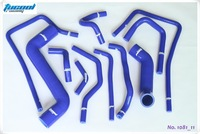 Free Shipping Silicone Radiator Hose Kit for Subaru Impreza WRX STi GDA GDB 00-07 1081 11pcs Blue