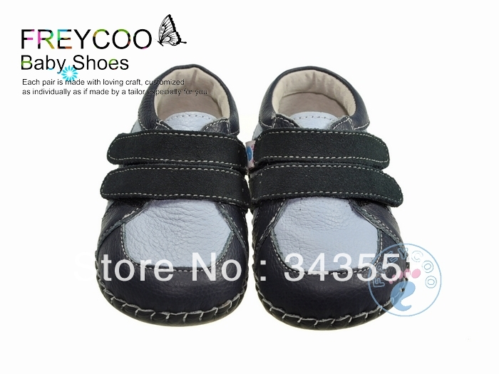 Genuine Counter Freycoo Infant Baby Shoes Indoor Anti-skidding Soft Sole Toddler First Walking Patch Velcro shoes. 1032(China (Mainland))