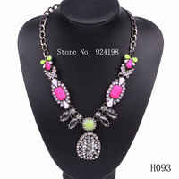 Minimum order $15 fashion elegant colorful resin statement necklace crystal jewelry for women free shipping