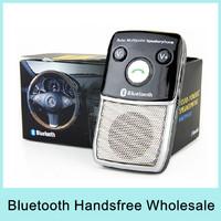 Solar Powered Wireless Bluetooth Handsfree Car Kit Speakerphone Support Simple Pairing Bluetooth V2.0 EDR Drop Shipping