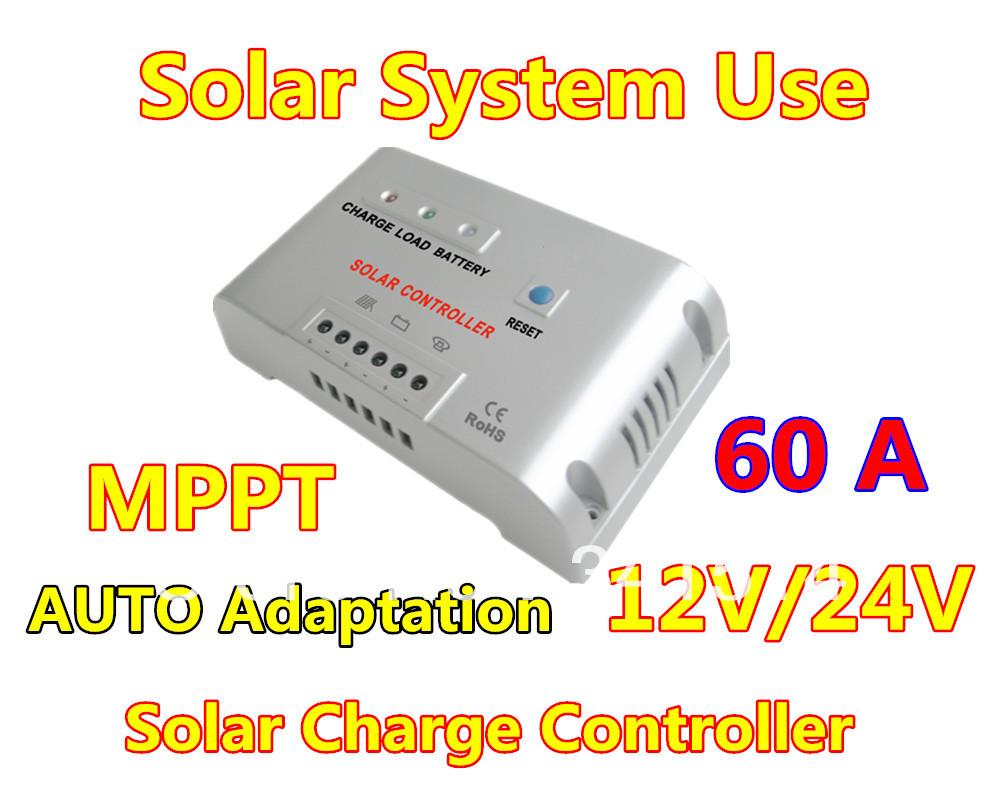Hot Sales!!! 60A 12V 24V MPPT Solar Charge Controller / 60A Solar Regulator for Solar Battery Panel(China (Mainland))