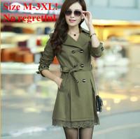 New 2013 lace Decoration slim medium-long coat classic jacket,jackets women,free shipping