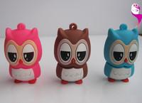 New cartoon owls shape usb flash drive nice owl pen drive memory pen stick 1GB 4GB 8GB free shiping