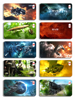 Wholesale - NEW free shipping 10 pcs  EVE Star Wars style Hard Case Cover for iphone4/4s