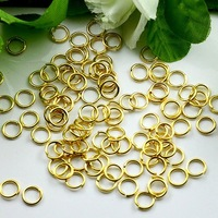 2014 popular productsFreeShipping!!!the 5mm top copper plated gold  color jump ring!!!