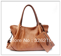 Free Shipping real leather bag vintage bags messenger bag