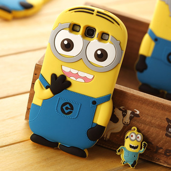 2014 Newest 3D Despicable Me 2 Silicone Mobile Phone Case For Samsung Galaxy S3 I9300 Protective Shell Free Shipping