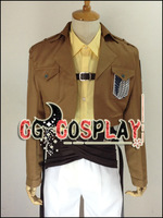 Free Shipping Cosplay Costume Shingeki no Kyojin Hanji Zoe Survey Team New in Stock Retail / Wholesale