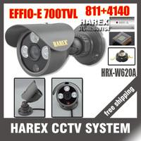 "1/3"" Sony Effio-e 700TVL 960H 3pcs Array IR LEDS outdoor/indoor waterproof Security CCTV Camera with bracket.Free shipping"