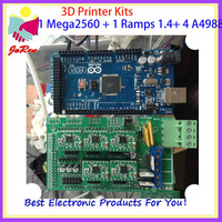 Hot! Best for you Reprap 3D Printer Full Kit board (1pcs RAMPS1.4 Controller + 1pcs Mega 2560 R3+4pcs A4988 Stepper Driver)