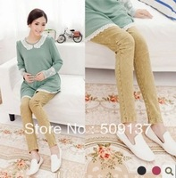 Леггинсы для беременных Spring, Autumn Maternity Clothes Pregnant Women Plus Size Bowknot Design Slim Black/ Grey Legging/ Pants X39