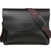 2014 New Fashion Vintage Leather Messenger Bags For Men POLO Real Cow Genuine Leather Shoulder Bag For Men Brand Ipad Mini Bag
