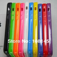 bumper for iphone 5C bumper case TOP quality TPU material soft  10pcs a lot, free shipping
