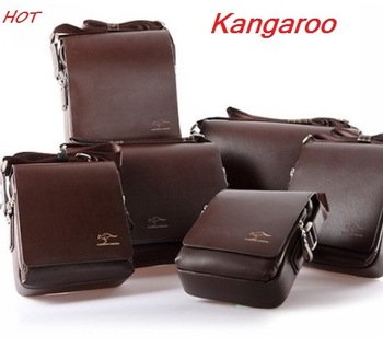 Kangaroo ,hot selling , free shipping to restore ancient ways men briefcase leather aslant, messenger bags, fashion leisure bag
