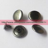 100pcs  circle flat  rivets on color black, grafite color 3mm 4mm 5mm 6mm 7mm 8mm 9mm 10mm 12mm