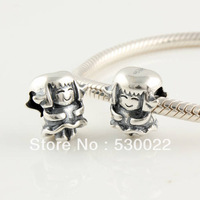 Cute Girl Distressed 925 sterling silver jewelry bracelet necklace loose beads DIY accessories wholesale