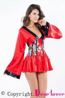 Sexy Shanghai Delight Geisha Kimono Sex Adult Fancy Dress Costumes LC8588 Cheaper price Free Shipping Drop Shipping