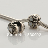 Drops of white oil buckle 925 sterling silver jewelry bracelet necklace loose beads DIY accessories wholesale