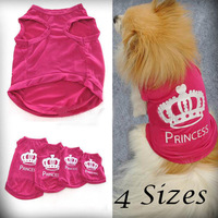 Pet Dog Cat Cute Princess T-shirt Clothes Vest Summer Coat Puggy Costumes Outfit