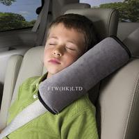 Free Shipping New 2014  Cotton Velvet Seat Belt Pillow Car Safety Seat Belt Shoulder Pad Pillow for Children 4 Colors OT15