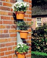 3 Terracotta Effect DRAINPIPE FLOWER PLANT POTS Tubs Drain Pipe Garden Planters