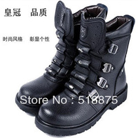 Brand shoes and genuine leather/new men cool waterproof cow leather army boots,man popular martin boots,gentleman fashion shoes