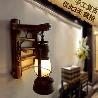 Antique wall lamp vintage living room bedroom bedside lamp LED lighting stair lamps lantern