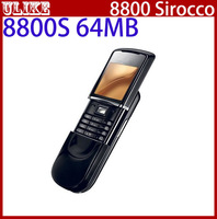Original Unlocked 8800 Sirocco 64MB Cell Phone Russian Keyboard/Language +Bluetooth Headset + Desktop Charger+Case Free