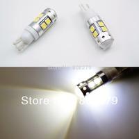 2 pieces / lot T10 W5W T15 W16W 10 LED CREE+Samsun* 50W Xenon White Side Light Backup Reverse Bulb 12V 24V