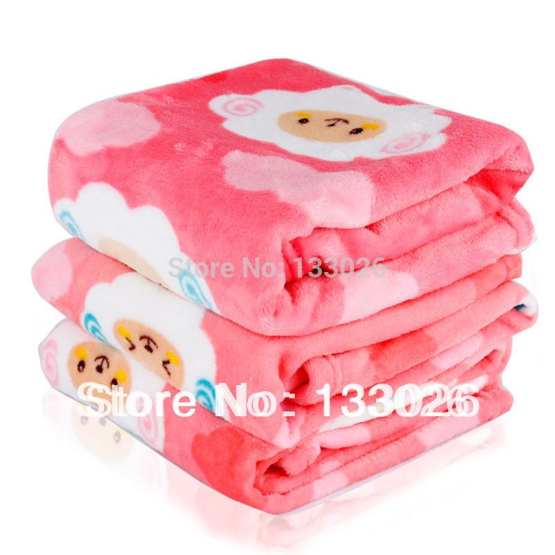 Colorful House new design dog blanket pet cat blanket cute pink lamb fleece blanket mat for small medium dog warm in winter(China (Mainland))